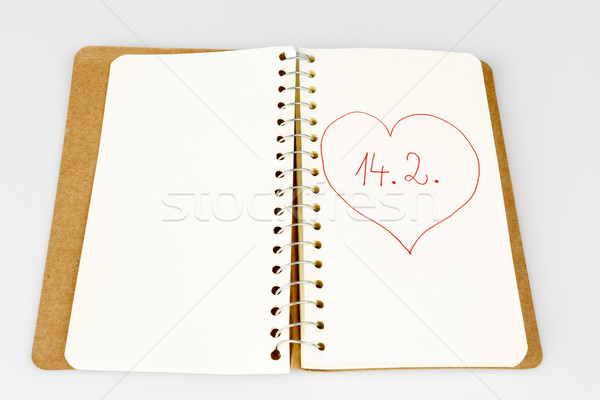 valentine day in calendar or diary Stock photo © jarin13
