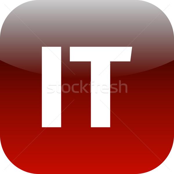 Domain ikon Olaszország informatika piros nemzetközi Stock fotó © jarin13