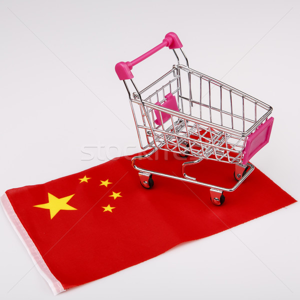 Shopping cart on China flag Stock photo © jarin13
