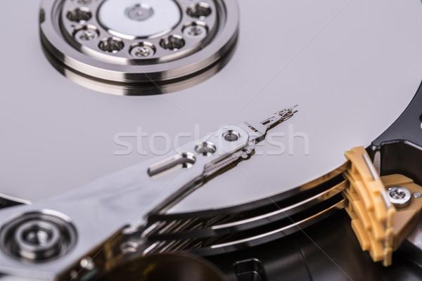 Merevlemez vezetés hdd bent izolált fehér Stock fotó © jarin13