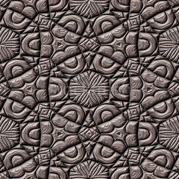 ornate cobble stone pavement texture Stock photo © jarin13