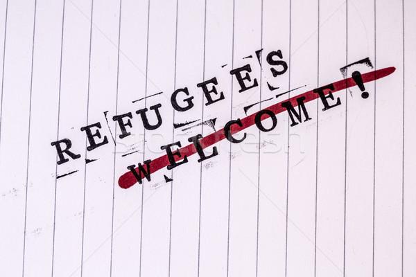 üdvözlet szöveg papír fehér vonal nők Stock fotó © jarin13