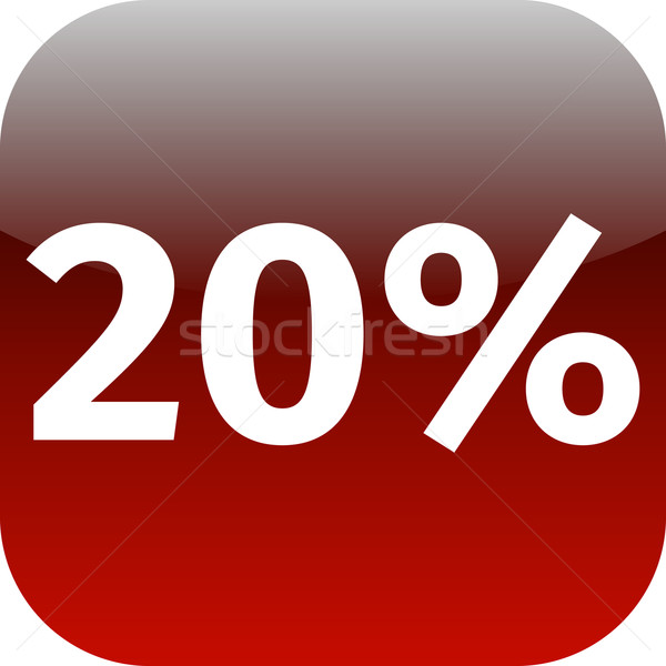 20 percent icon or button in red Stock photo © jarin13