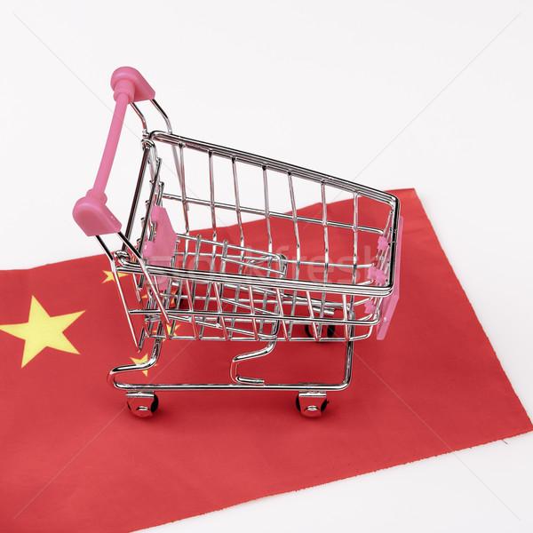 розовый Корзина Китай флаг красный магазине Сток-фото © jarin13