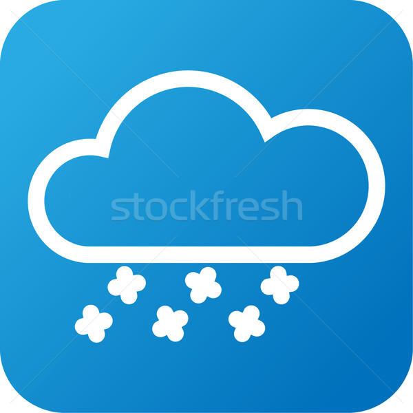 Weather web icon with cloud and snow Stock photo © jarin13
