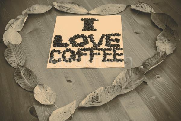 любви кофе сердце бумаги аннотация искусства Сток-фото © jarin13
