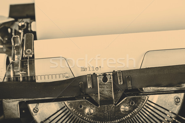 paper in typewriter Stock photo © jarin13