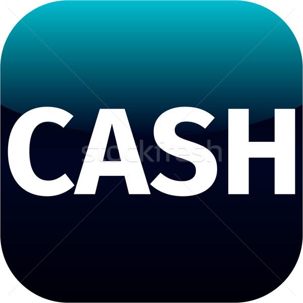 blue cash icon Stock photo © jarin13