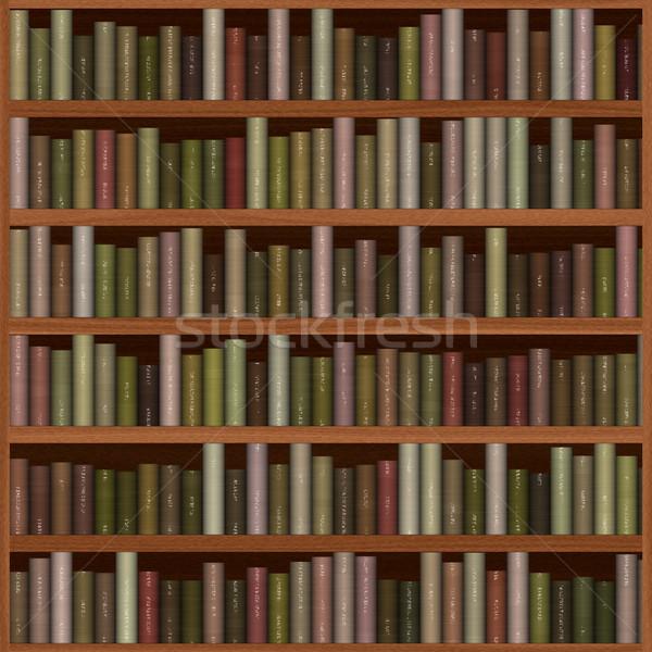 Textuur boekenplank oude houten boeken ontwerp Stockfoto © jarin13
