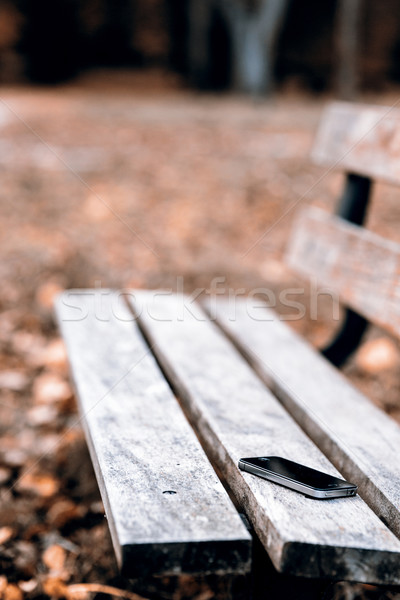 Lost phone on the bench Stock photo © jarin13