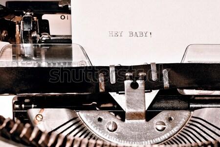 Szöveg baba öreg írógép levél cím Stock fotó © jarin13
