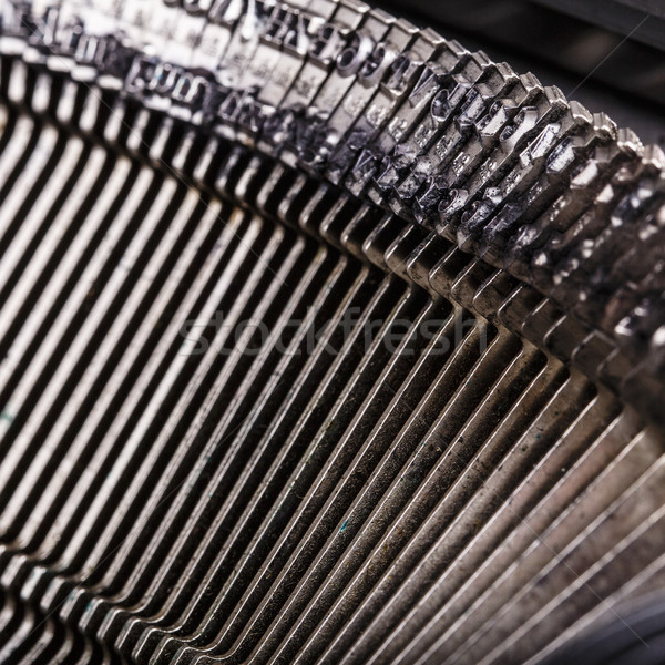 closeup of old typewriter letters Stock photo © jarin13