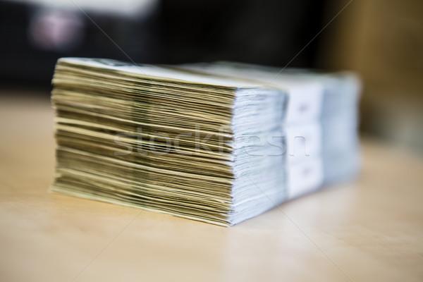 Stockfoto: Pack · geld · groot · bankbiljetten · tsjechisch
