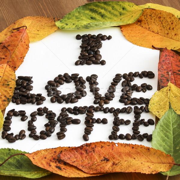 Sevmek kahve çerçeve kâğıt soyut ışık Stok fotoğraf © jarin13