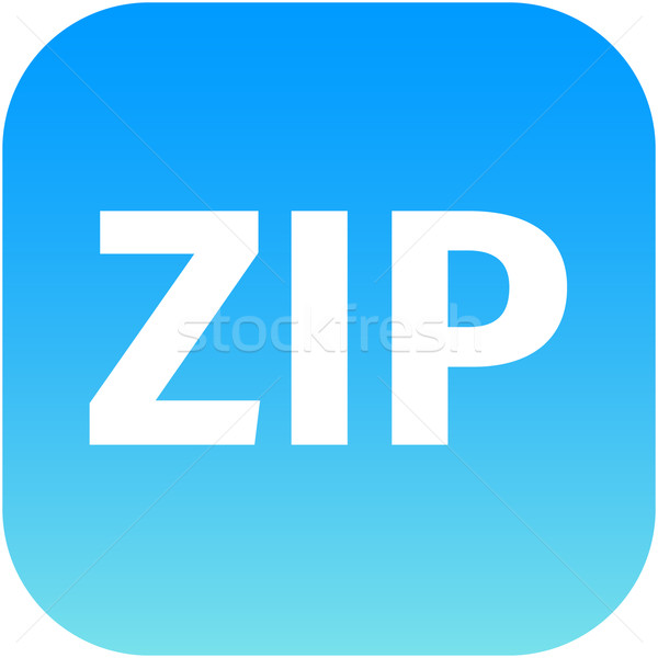 Archive zip blue icon for apps Stock photo © jarin13
