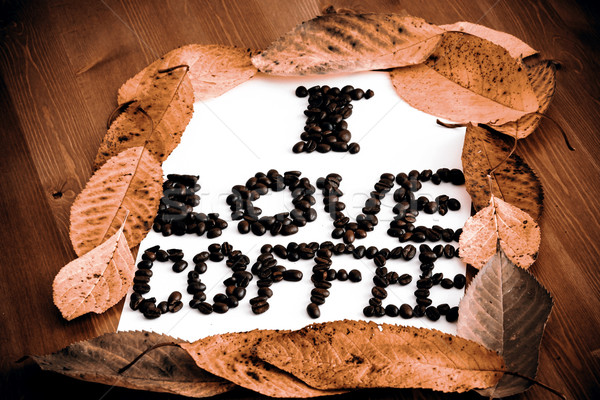 Foto stock: Amor · café · marco · papel · resumen · luz
