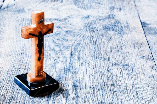 Belo velho atravessar jesus amor Foto stock © jarin13
