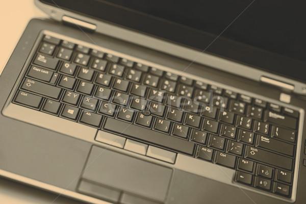 Stockfoto: Touchpad · laptop · witte · business · werk