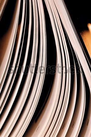 Közelkép nyitott könyv oldalak tanulás könyvtár tanul Stock fotó © jarin13