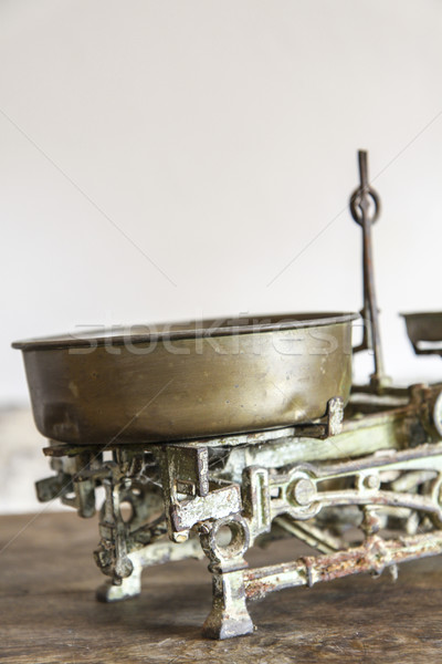 Old Antique weight measuring and kitchen goods weighing Stock photo © jarin13