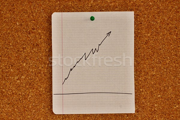 Notice board with graph sketch Stock photo © jarin13