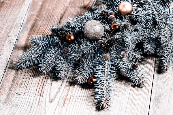 Natal decoração verde ramo árvore Foto stock © jarin13