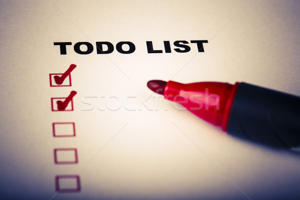 To Do list with marker Stock photo © jarin13