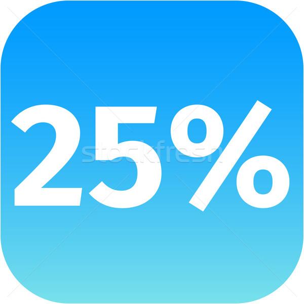 25 százalék ikon kék fehér telefon Stock fotó © jarin13