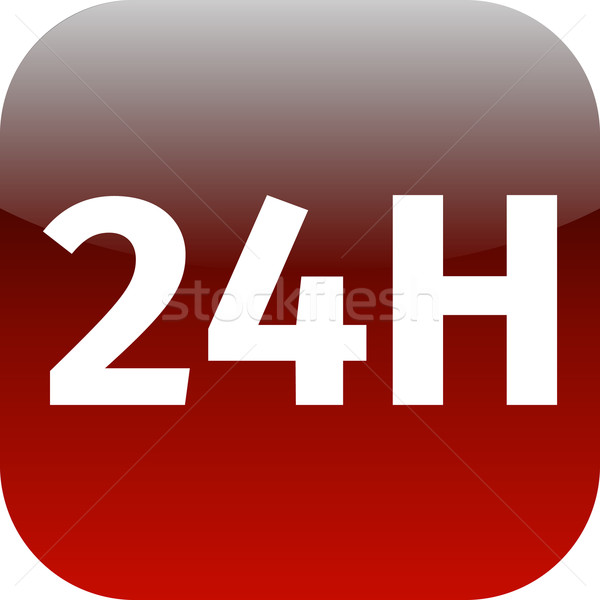 24H red icon or button  Stock photo © jarin13