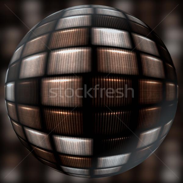 Generado esfera pelota marrón cuadros hermosa Foto stock © jarin13