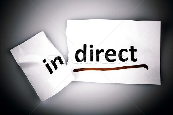 Słowo kierować rozdarty papieru biały Zdjęcia stock © jarin13