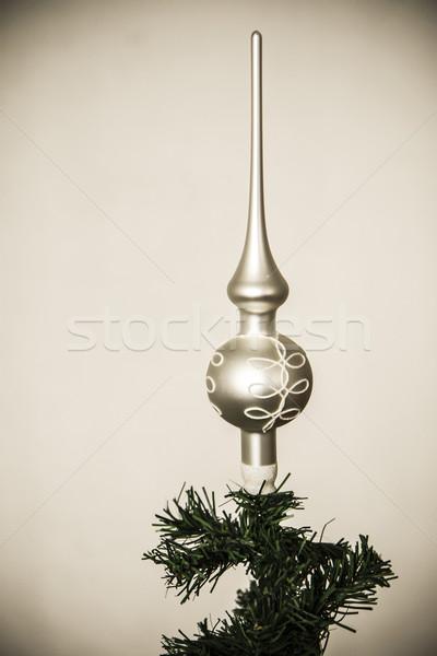 Christmas dekoracji piękna ściany żywności strony Zdjęcia stock © jarin13