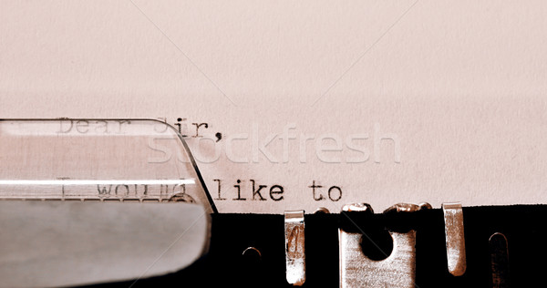 Stock photo: Text Dear Sir typed on old typewriter