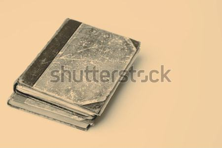 Gyönyörű öreg kettő könyvek közelkép fehér Stock fotó © jarin13