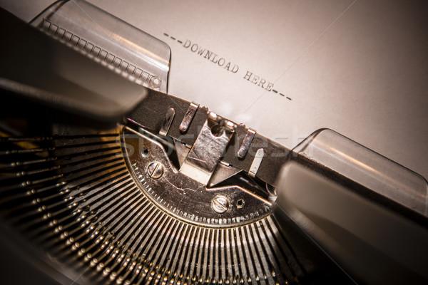 Alten Schreibmaschine Text download hierher Stock foto © jarin13