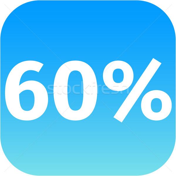 60 パーセント アイコン 青 白 電話 ストックフォト © jarin13
