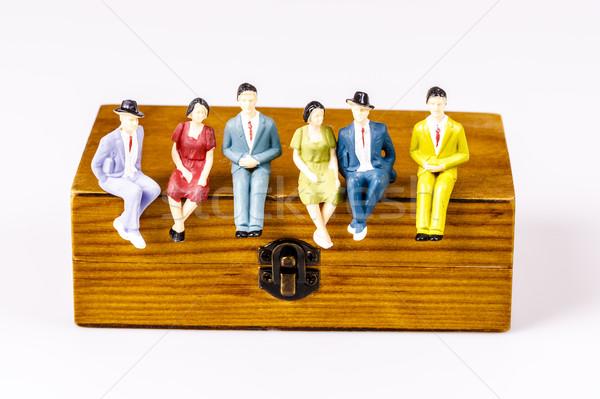 Brinquedo modelos pessoas sessão caixa Foto stock © jarin13