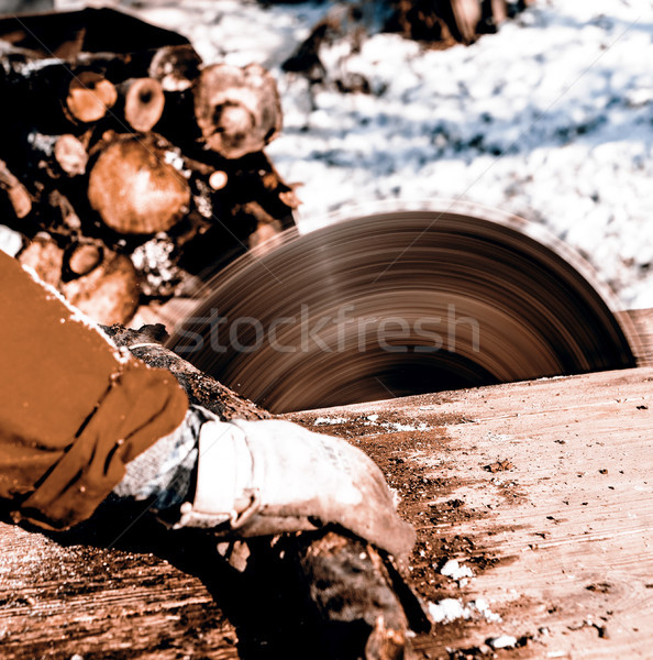 Uomo lavoro visto lama vecchio Foto d'archivio © jarin13