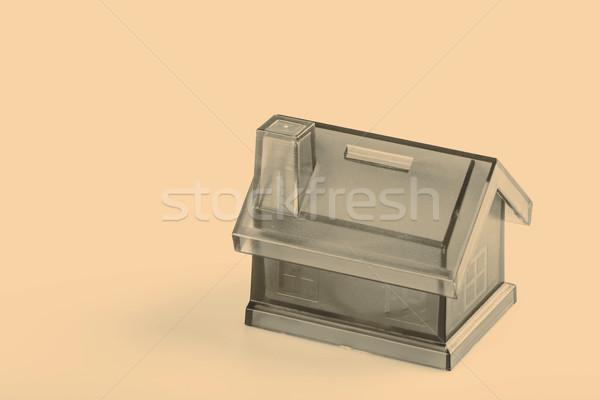 Niebieski domu ceny polu biały monety Zdjęcia stock © jarin13