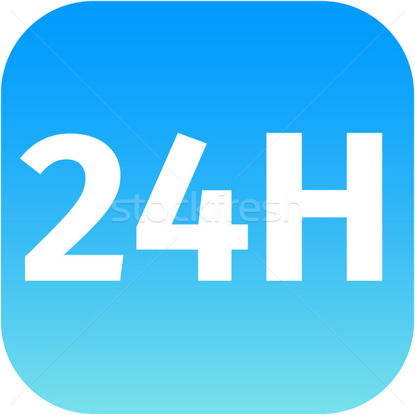 24H blue icon or button  Stock photo © jarin13