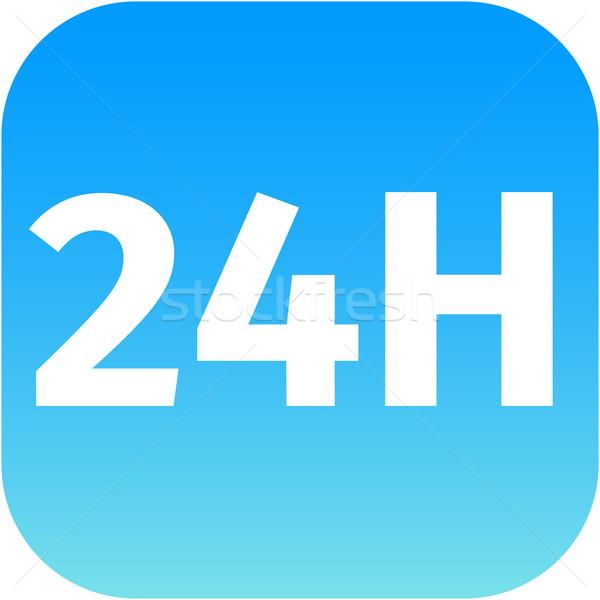 Blu icona pulsante web telefono app Foto d'archivio © jarin13
