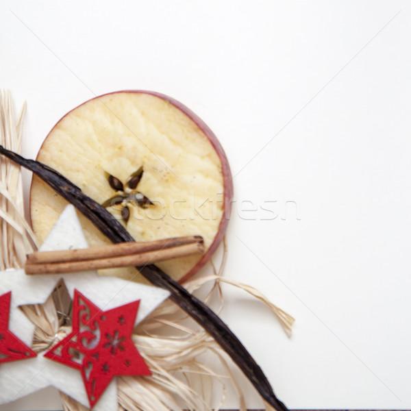 Natal cartão postal maçã estrela baunilha inverno Foto stock © jarin13