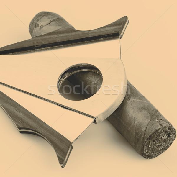 Sigaar witte duur blad gezondheid rook Stockfoto © jarin13