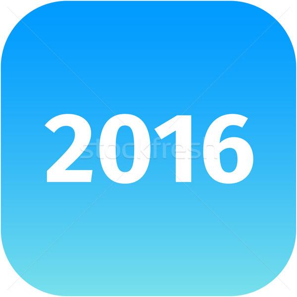 year 2016 blue icon Stock photo © jarin13
