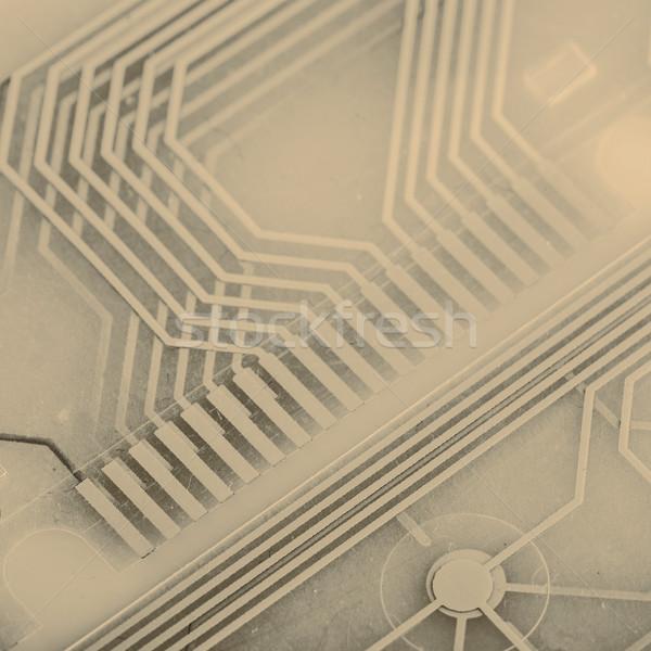 Wydrukowane obwodu klawiatury wewnątrz projektu bezpieczeństwa Zdjęcia stock © jarin13