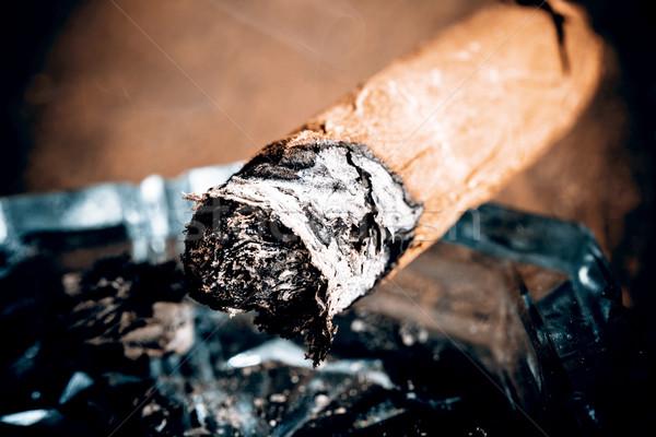 Caro charuto mão folha fumar Foto stock © jarin13