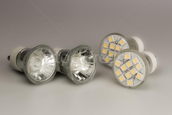 Modern LED bulbs with classic old bulbs Stock photo © jarin13
