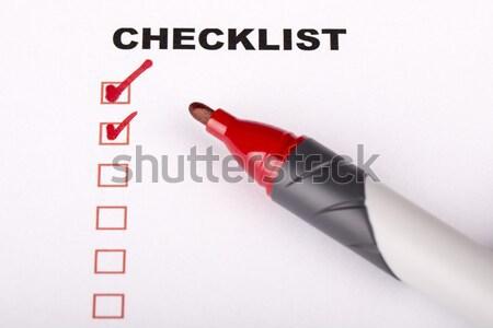 Pour faire la liste marqueur vérifier isolé blanche signe Photo stock © jarin13