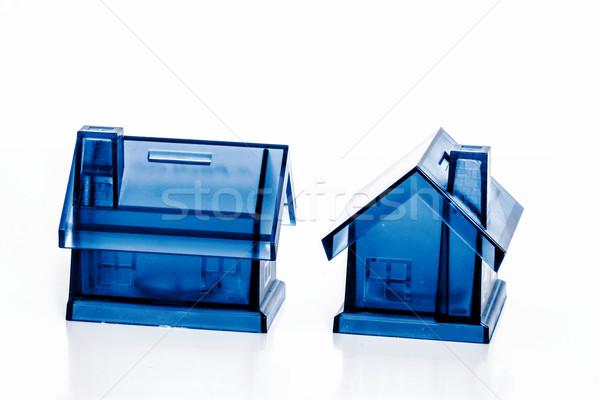 Niebieski ceny pola domu polu biały Zdjęcia stock © jarin13