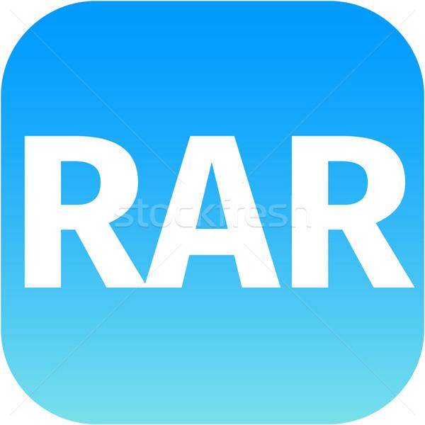 Archívum kék ikon appok akta letöltés Stock fotó © jarin13